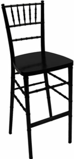 Rental store for BAR STOOL, CHIAVARI-BLACK RESIN in Philadelphia PA