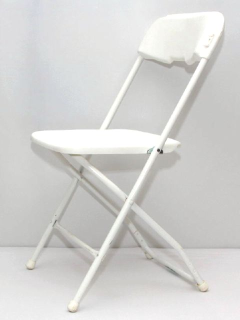 Where to find CHAIR, FOLDING PLASTIC - WHITE in Philadelphia