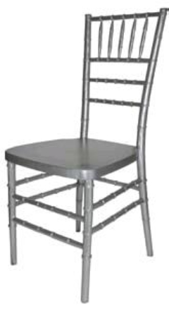 Rental store for CHAIR, CHIAVARI RESIN-SILVER in Philadelphia PA