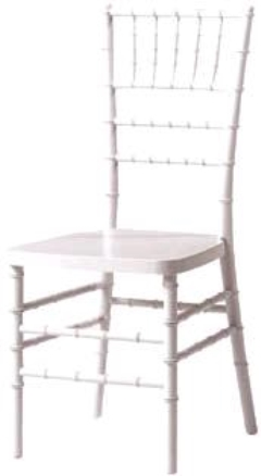Rental store for CHAIR, CHIAVARI RESIN-WHITE in Philadelphia PA