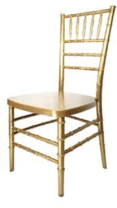 Rental store for CHAIR, CHIAVARI RESIN-GOLD in Philadelphia PA
