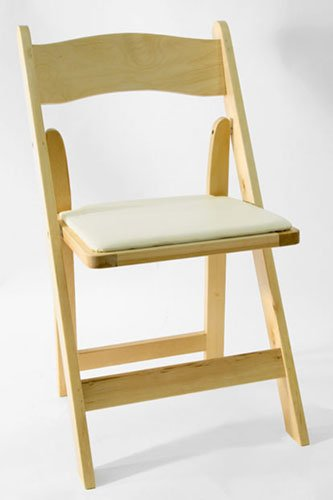 Where to find CHAIR, FOLDING PADDED WOOD - NATURAL in Philadelphia
