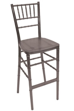 Rental store for BAR STOOL, CHIAVARI-SILVER RESIN in Philadelphia PA