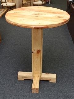 Rental store for TABLE, FARMHOUSE 30  HIGH TOP - NATURAL in Philadelphia PA