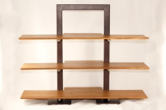Rental store for STAND, 3 TIER BROWN W  BAMBOO SHELVES in Philadelphia PA