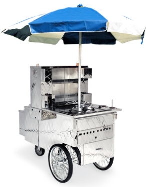 Where to find HOT DOG CART W. RED UMBRELLA  STERNO in Philadelphia