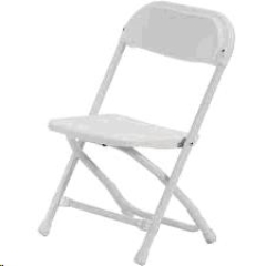 Rental store for KIDDIE CHAIR, FOLDING PLASTIC - WHITE in Philadelphia PA