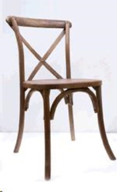 Rental store for CHAIR, CROSS BACK-WALNUT in Philadelphia PA