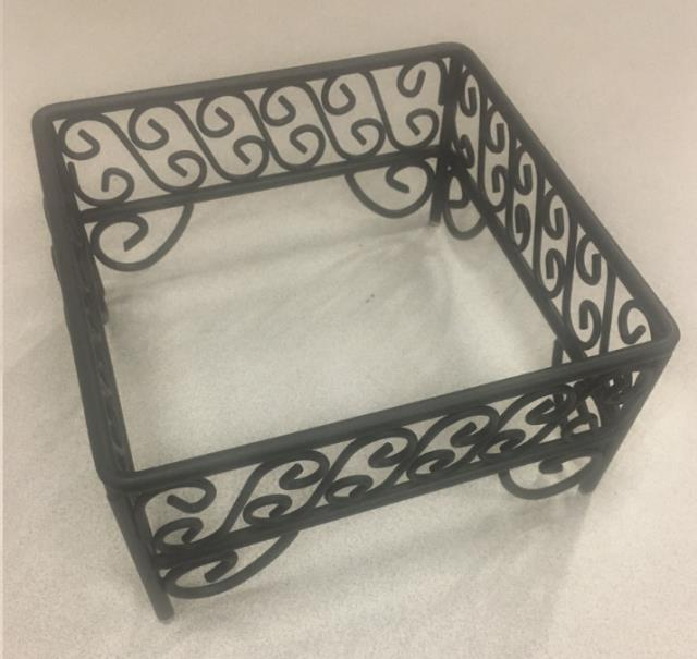 Where to find STAND, WROUGHT IRON-BLACK 7 X7 X3.5 H in Philadelphia