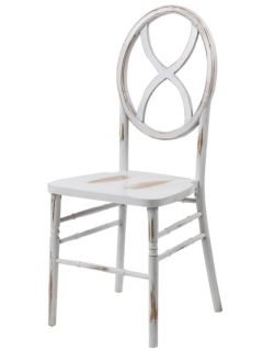 Rental store for CHAIR, VERONIQUE - LIME WASH WHITE in Philadelphia PA