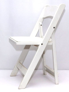 Rental store for CHAIR, FOLDING PADDED RESIN - WHITE in Philadelphia PA