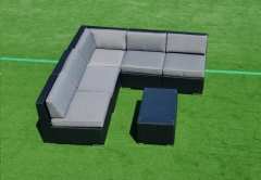 Rental store for BLACK GRAY WICKER LOUNGE, 6PC- PK 2 in Philadelphia PA