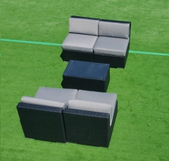 Rental store for BLACK GRAY WICKER LOUNGE, 5PC- LOVE SEAT in Philadelphia PA