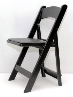 Rental store for CHAIR, FOLDING PADDED RESIN - BLACK in Philadelphia PA