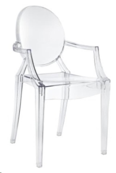 Rental store for CHAIR, GHOST ARM CHAIR-CLEAR in Philadelphia PA