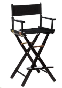 Rental store for CHAIR, DIRECTORS - BLACK CANVAS   FINISH in Philadelphia PA