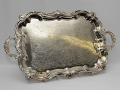 Rental store for TRAY, FOOTED SILVERPLATE BAROQUE 18 X30 in Philadelphia PA