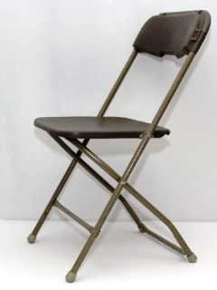 Rental store for CHAIR, FOLDING PLASTIC - BROWN in Philadelphia PA