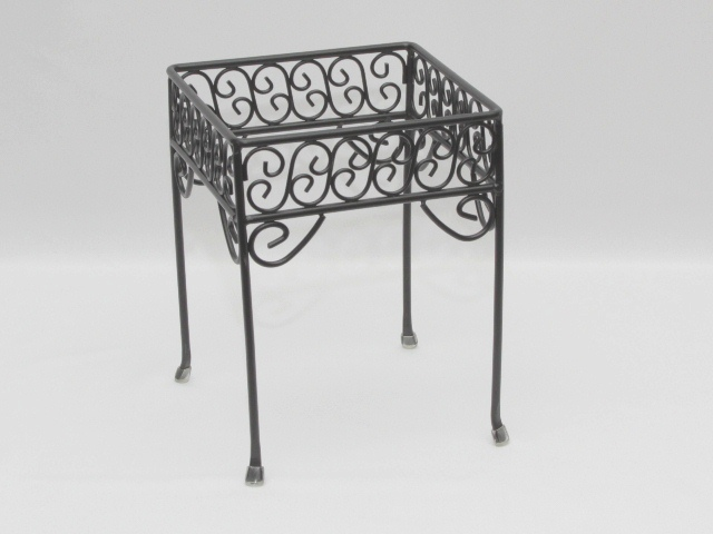 Where to find STAND, WROUGHT IRON-BLACK 7 X7 X9  HIGH in Philadelphia