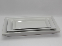 Rental store for PLATTER, WHITE CERAMIC 14.25 X7.5 in Philadelphia PA