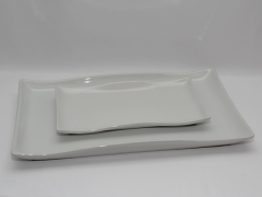 Rental store for PLATTER, WAVY WHITE CERAMIC 21 X13.5 in Philadelphia PA