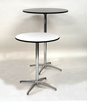 Table 30 Inch Rd X 42 Inch High Pedestal Type Rentals