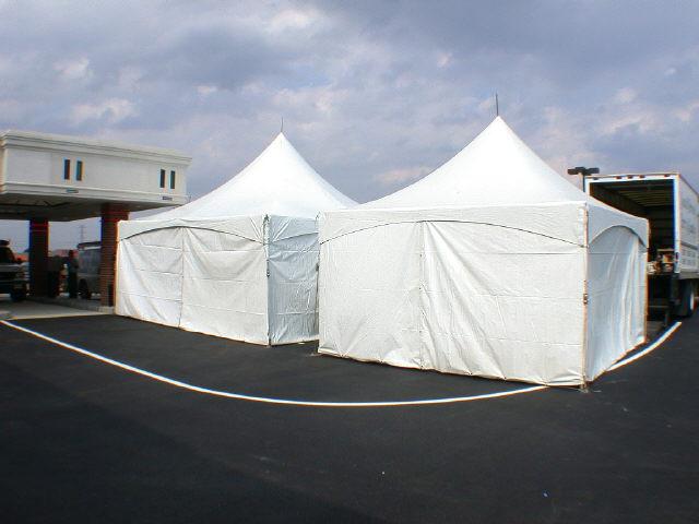 High peak frame tents 10 foot /15 foot wide rentals Philadelphia PA ...